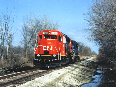 GTW Train at Romeo MI